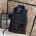 Casual Hooded Women Vests Plus Size 3XL 4XL Warm Thick Long Vest Black KK2206