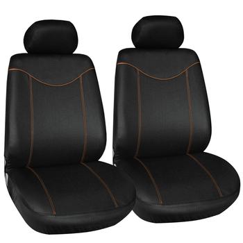 Black Car Seats | 2pcs Front Seat Cover Universal For Cars Simple Protective Seats Car-covers Black Automotive Interior Decoration