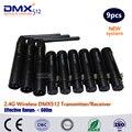 DHL 9 шт./лот Мини светодиодный сценический свет XLR 2 4G беспроводной DMX 512 отправитель и приемник консоли