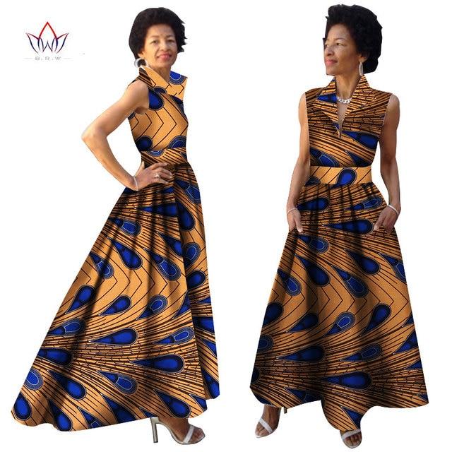 2019 African Summer Dress Dashiki Dress African Bazin Riche Dress for Women  Plus Size Long Print Africa Clothing WY833 94aa9033d5ed
