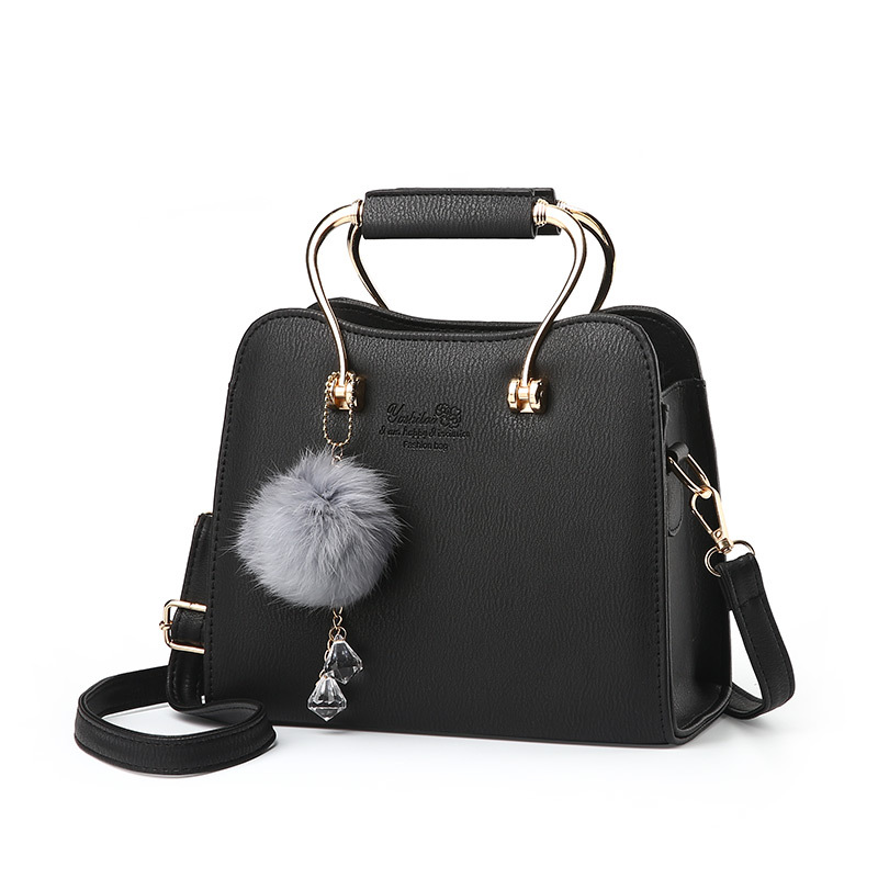 Brand Fashion Fur Women Bag Handbags Famous Designer Women Leather Top Handle B