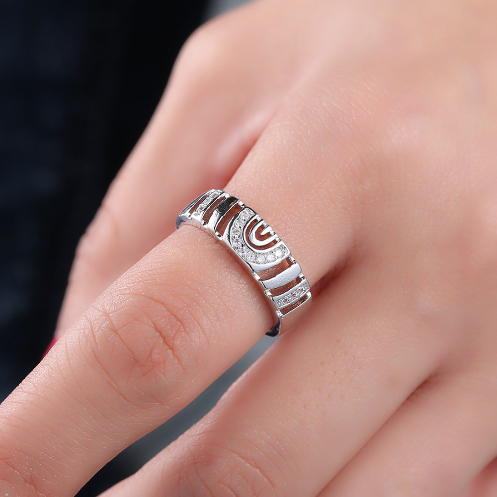 Aliexpress.com : Buy engraved jewelry female crystal engagement ring ...