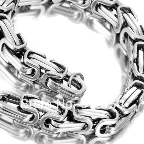 High Quality, 100% 316L Stainless Steel Byzantine Chains Bracelet Cow Boy Strong Mens Jewelry 2013,PUNK, ROCK, Biker, Free Ship