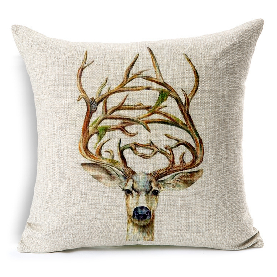 High Grade <font><b>Pillow</b></font> Covers Creative Color Animal New Style <font><b>30X50</b></font>/45X45CM Linen <font><b>Pillow</b></font> Cover\Home Decorative cushion <font><b>case</b></font> image