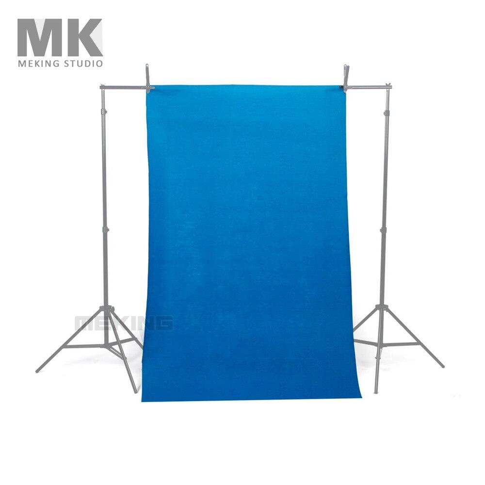 Nouveau 10*10ft/3*3 M Chroma Key bleu solide sans couture mousseline photographie toile de fond photo studio accessoires