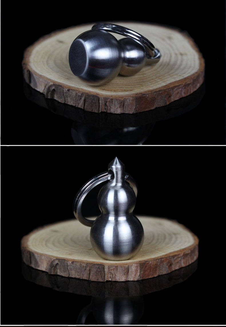 304 stainless steel pocket self-defense gourd martial arts kung fu solid gourd