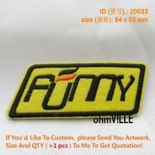 Нашивки Fumy значок Логотип Вышитые Железо на патч-паста для фанатов одежда мешковатые брюки значок на заказ аппликация 20033