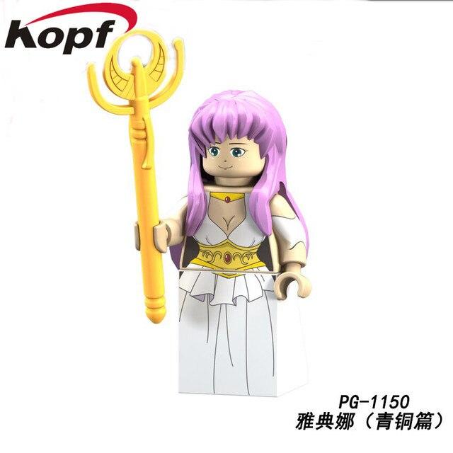 PG8128 Saint Seiya Super Heroes knights of the zodiac Athena Shiryu Glacier Tutankhamu Bricks Building Blocks Children Gift Toy 2