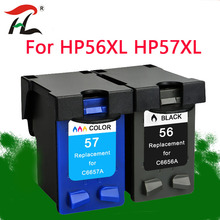 YLC 56XL 57XL Compatible for HP56XL Ink cartridges HP56 56XL For HP Deskjet 5508 5510 5510v 5510xi 5515 C6656A C6657A  priter