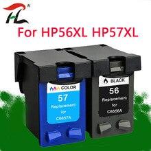 YLC 56XL 57XL متوافق ل HP56XL الحبر خراطيش HP56 56XL ل HP Deskjet 5508 5510 5510v 5510xi 5515 C6656A C6657A priter