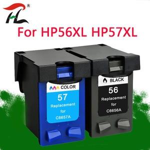 Image 1 - YLC REPUESTOS DE 56XL 57XL Compatible para HP56XL cartuchos de tinta HP56 56XL para HP Deskjet serie 5508, 5510, 5510v 5510xi 5515 C6656A C6657A priter