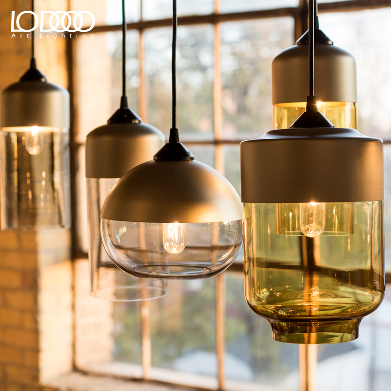 LODOOO New American industrial loft vintage pendant lights black silver iron edison glass retro loft vintage pendant lights lamp vintage loft industrial edison flower glass ceiling lamp droplight pendant hotel hallway store club cafe beside coffee shop