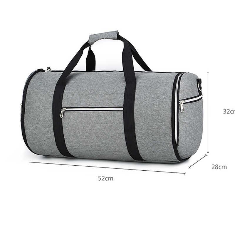 Kabriolet 2 w 1 pokrowiec na ubrania z paskiem na ramię, luksusowy worek marynarski dla mężczyzn kobiety wiszące walizki garnitur torby podróżne
