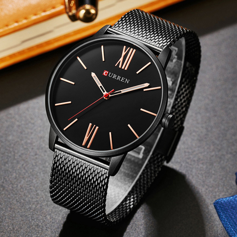 Image 4 - CURREN Top Brand Mens Watches Luxury Quartz Casual Watch Men Stainless Steel Mesh Clock relogio masculino 8238 Drop Shipping-in Quartz Watches from Watches