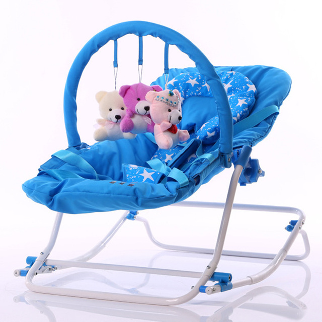 a70a9c7ba1c 2017 Infant Rocking Chair Baby Bouncer Sit and Lie Folding Baby Rocker  Chair Recliner Swings Appease the Child Toys Cradle