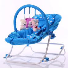2017 Infant Rocking Chair Baby Bouncer Sit and Lie Folding Baby Rocker Chair Recliner Swings Appease the Child Toys Cradle