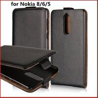 Раскладушка чехол для телефона для Nokia 8 6 5 кожаный чехол ультра тонкий магнитный адсорбции флип coevr чехол для Nokia 6 5 8