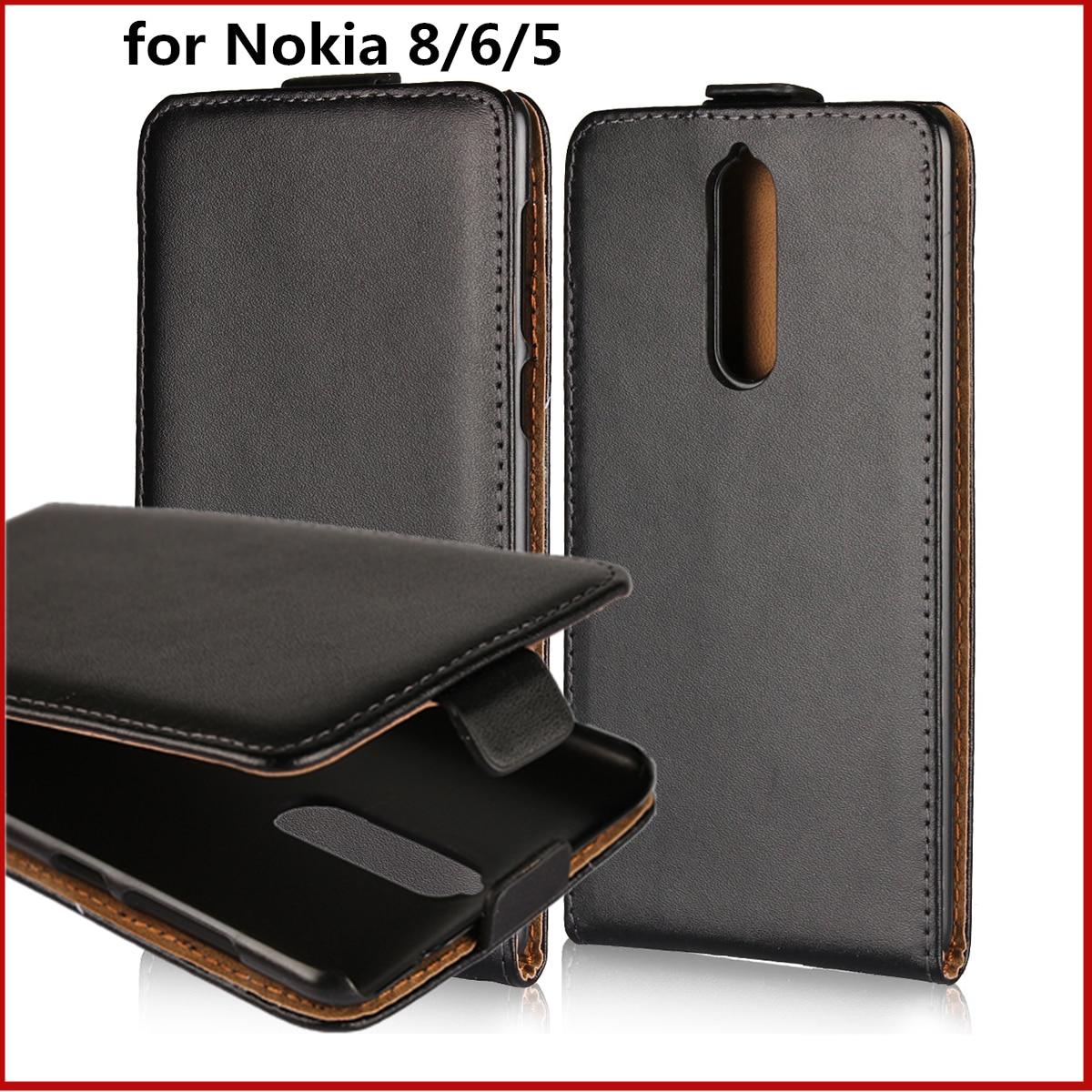 Klapphandy fall für Nokia 8 6 5 ledertasche ultra dünne Magnetische adsorption flip coevr fall für Nokia 6 5 8