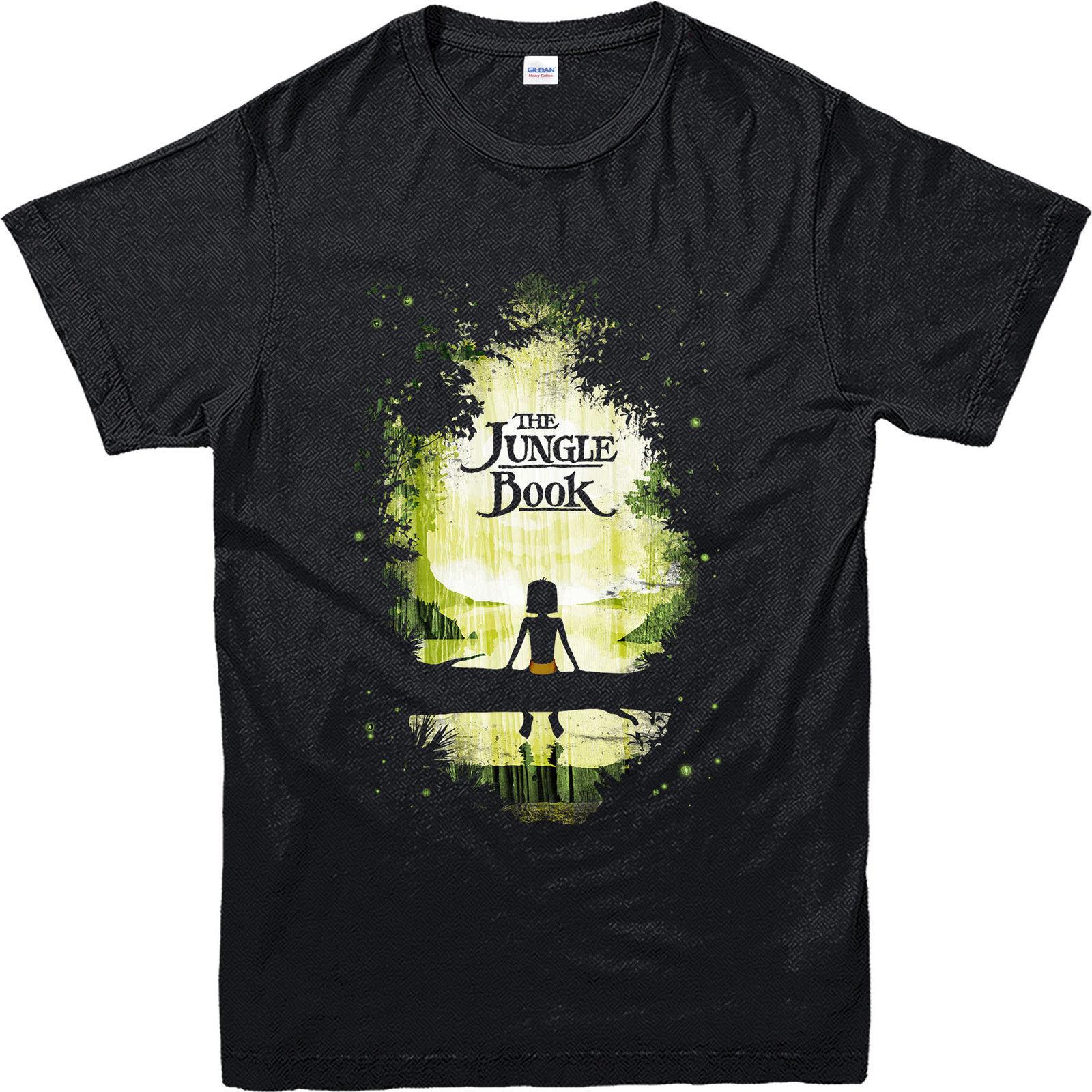 Shirt design book - Men S T Shirt 2017 Newest Jungle Book T Shirt Sunset Jungle View Inspired Design T Shirt Men T Shirt 100 Cotton Print Shirts