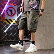 גברים מכנסיים זיעה היפ הופ streetwear קיץ צבאי כותנה mens ברמודה מכנסיים M-XXXL מטען מזדמנים 2019 גברים מעצב מכנסיים קצרים