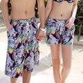 Новый быстросохнущие мода пляжные шорты для женщин и мужчин Купальники большой размер бордшорты мужские свободные любителей Купальник 19-09