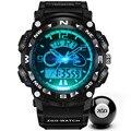 Relógio Digital de Quartzo dos homens Do Esporte da forma Dos Homens Relógios g choque Relógios De Pulso Relogio Marca de Luxo LED 50 m À Prova D' Água Masculino