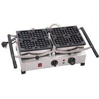 180 Degree Turntable Electric Liege Swing Belgian Waffle Maker Machine Baker