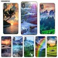 P138 Natural negro Funda de silicona para Apple iPhone 11 Pro XR XS Max X 8 7 6 6S plus 5 5S SE