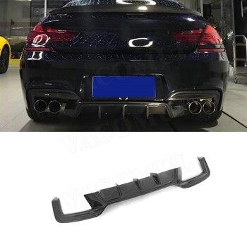 Carbon Fiber / FRP Rear Lip Diffuser Spoiler for BMW 6 Series F06 F12 F13 M Sport 2012-2016 Fins Shark Style Car Bumper Guard