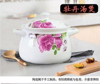 Cazuela coreana para sopa, olla de cerámica para el hogar, cocina a gas resistente al fuego, cazuela grande para gachas, olla de cocina china