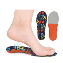 476b5886b4 Kids arch support black orthopedic insoles children boys and girls foot  print velvet flat feet insoles