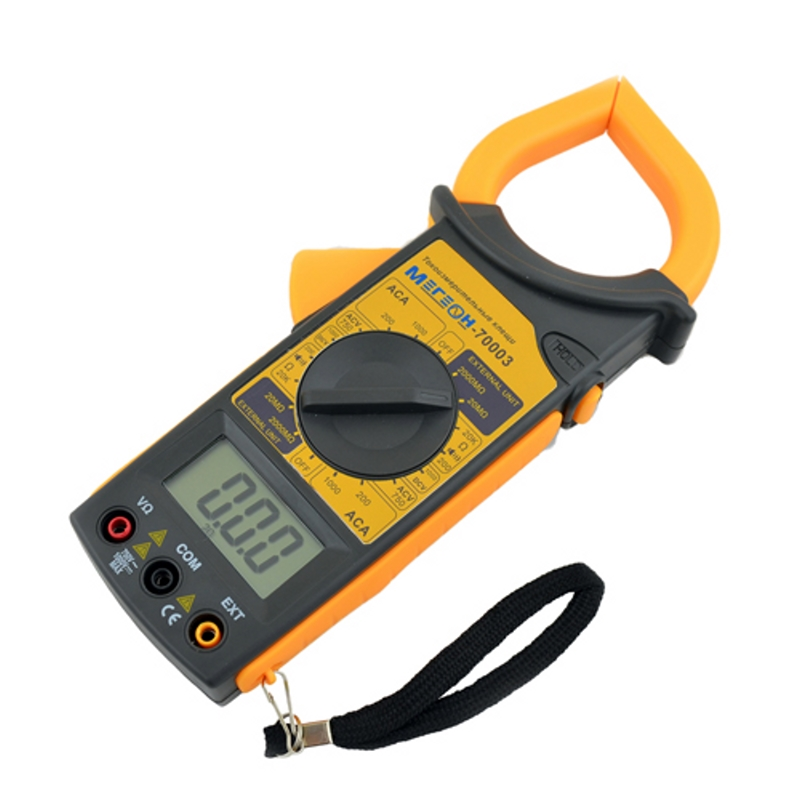 Current clamp МЕГЕОН 70003 (measuring range AC voltage 0-1000В, ac 0-1000A) dt9205a lcd display voltage current resistance capacimeter multimeter w leads