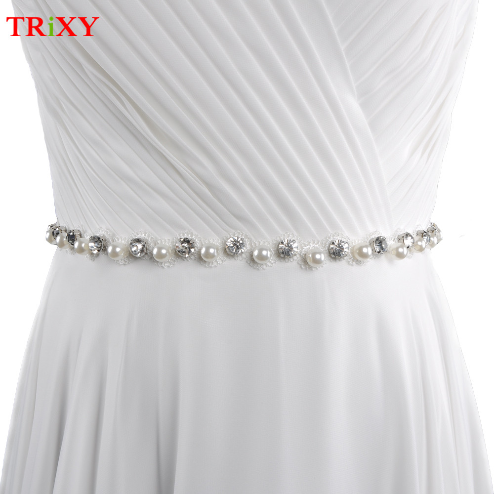 Bridal Blets Trixy S71 Rhinestones Pearl Thin Wedding Belts Wedding Sash Pearls Beaded Bridal Belts Sash Dress Belt Bridesmaid Belt Sashes Back To Search Resultsweddings & Events