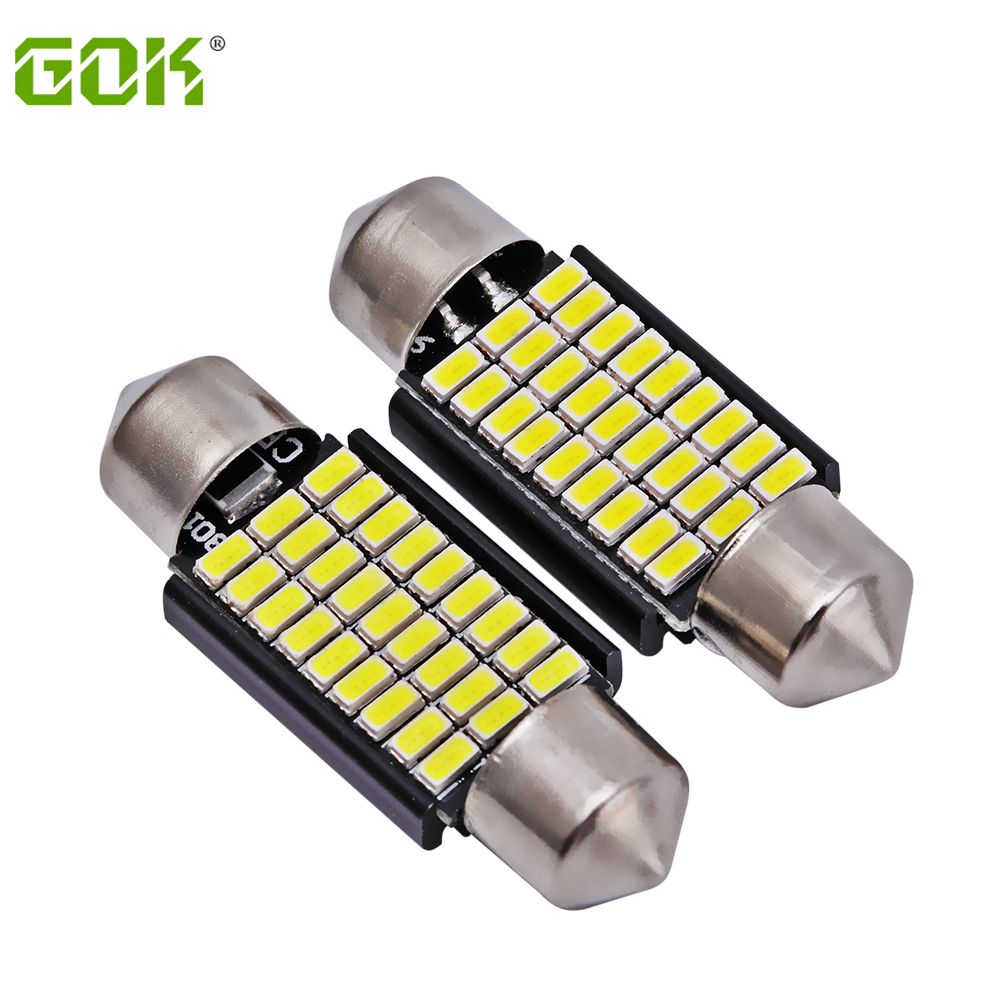 2 x  Festoon 36MM led Dome C5W led 3014 led 27SMD festoon LED light Canbus Car Licence Plate Light Auto Dome lamp Reading Bulb cyan soil bay festoon 36mm led bulb c5w c10w 4014 16 smd canbus error free auto interior dome lamp car styling reading light