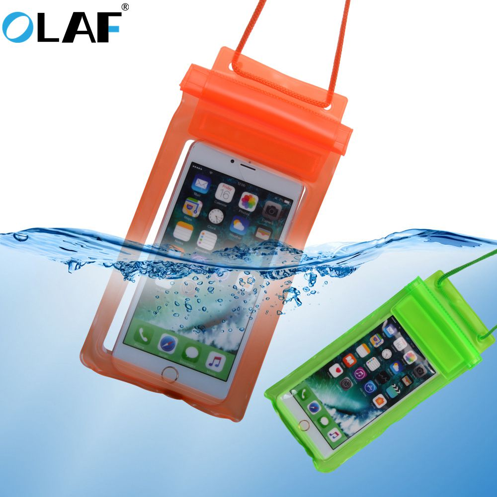 Olaf Waterproof Case Underwater PVC Package Pouch Diving Bag For IPhone XS Max XR 7 Mobile Phone Case For Samsung Xiaomi Huawei