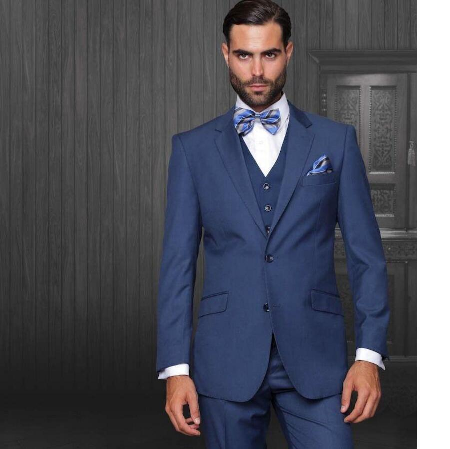 Newest Navy Blue Wedding font b Men b font font b Suits b font Groom Tuxedos