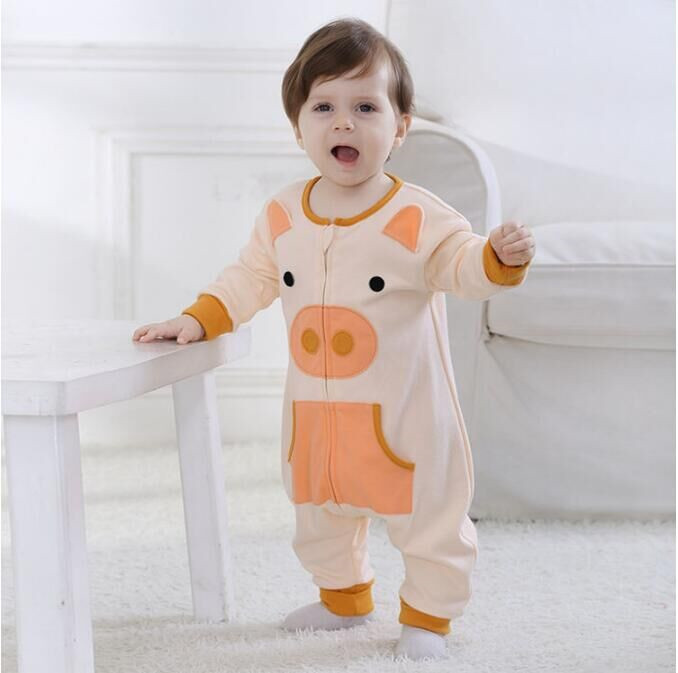 Androktones Newborn Infant Baby Lovely Pig Clothes Pure Cotton Romper Hooded Jumpsuit Onesie Cosplay Boys Girls Spring Costume