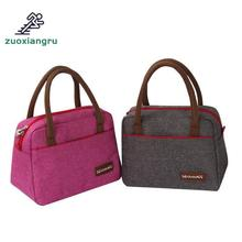 цена Zuoxiangru New Fashion Lunch Bag Box Thermo Food Insulated Picnic Bag Thermal Bag For Women Or Men Insulated Cooler Picnic Bags