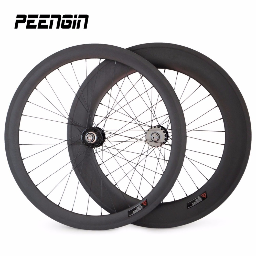 60mm Front 88mm Rear Clincher Carbon Track Bike Wheelset Fixed Gear Bike Wheels 11