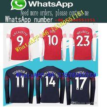 8f8ff25fa93 Arsenal home red long sleeve 18 19 7 MKHIARYAN away short sleeve soccer  shirt. US  19.94   piece Free Shipping