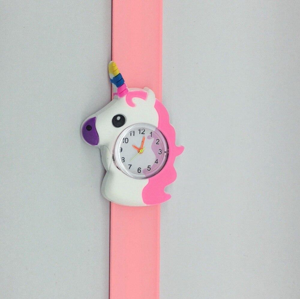 Saatler'ten Çocuk Saatleri'de Moda güzel karikatür 3D desen unicorn tasarım çocuk çocuk saatler toptan kızlar öğrenciler tokat yapış hediye doğum günü saatler'da  Grup 2