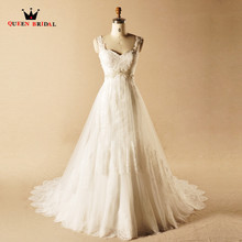 QUEEN BRIDAL Vintage Wedding Dresses A-line Lace Beading