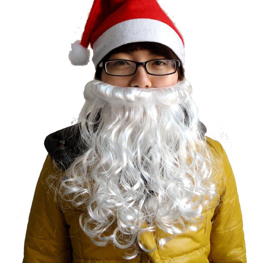 Christmas Cosplay Costumes Props Supplies Christmas Santa Claus Beard 30g deluxe santa christmas santa claus wig beard set christmas fancy dress claus beard heat resistant cosplay full hair wigs