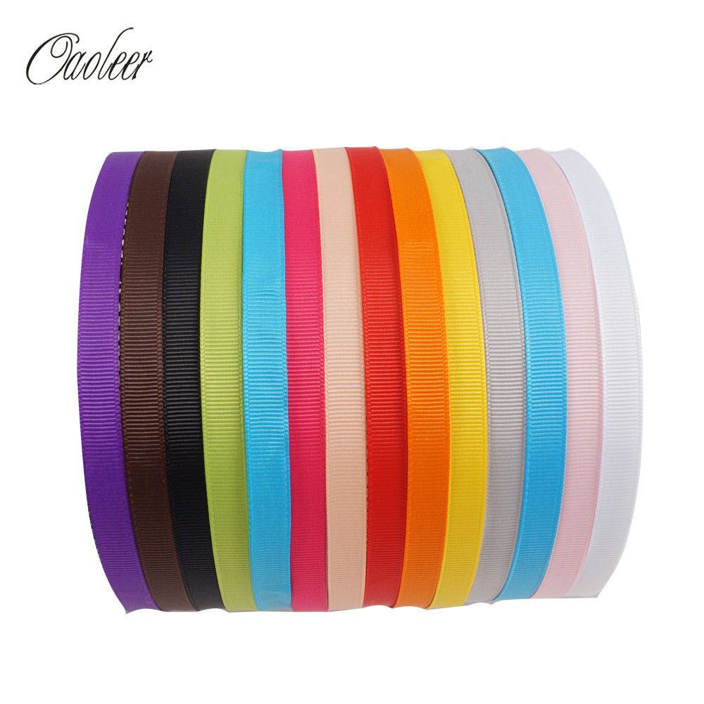 14pcs/lot 10mm Solid Grosgrain Ribbon Covered Hairbands Children Teeth Hairband Adult Kids DIY Hair Accessories