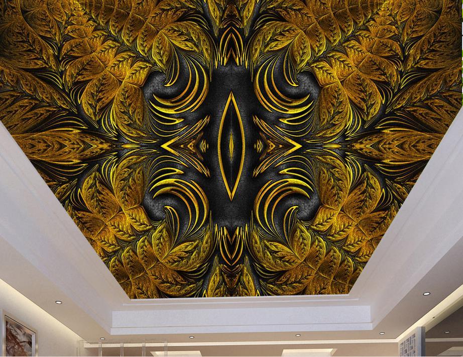 Us 1428 58 Offniestandardowe 3d Sufitu Murale Europejski Klasyczny Wzór Luksusowych Tapety Do łazienki 3d Sufit Tapeta Murale Tapety W Tapety Od