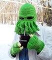 Бесплатная доставка 2015 новый в продаже унисекс осьминог зима теплая вязаная шерстяная лыжная маска Hat кальмар Cap ктулху щупальца шапочка Hat