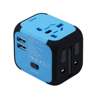 International Travel Universal Adapter Electrical Plug For UK US EU AU Socket Converter With Dual USB