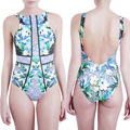 2017  Europe and America New summer push up sexy print set adjustable straps triangle swimwear Maiden swimsuit bathing women