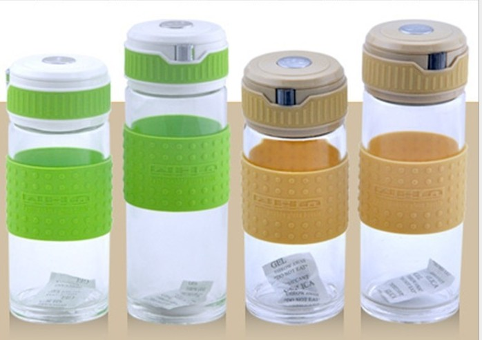 1pc high quality glass sports bottle ,350ML or 450ML, special sale OS 0102