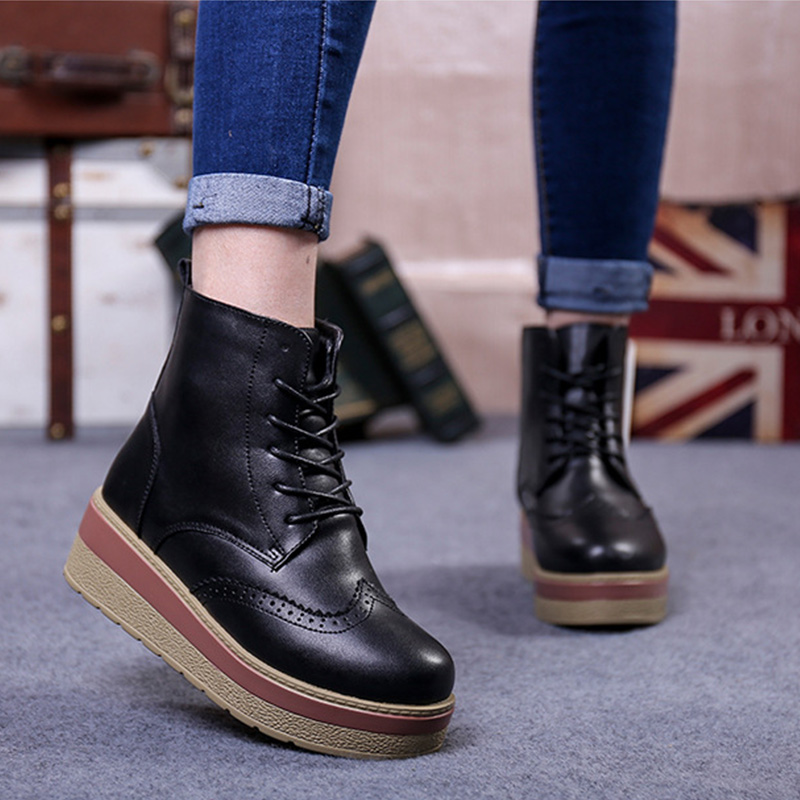 2017 new British wind round head with Winter font b boots b font font b boots